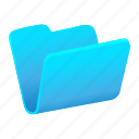 archive, blue, closed, files, folder icon