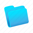 archive, blue, files, folder, open icon