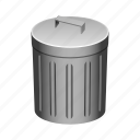 can, garbage, litter, rubbish, trash icon
