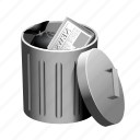 can, garbage, litter, open, rubbish, trash icon