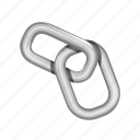bond, chain, connection, iron, link, network icon