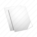 cut, duplicate, file, paper, paste icon