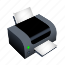 file, machine, paper, print, printer icon