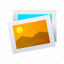 landscape, photo, photograph, pic, picture, sun icon
