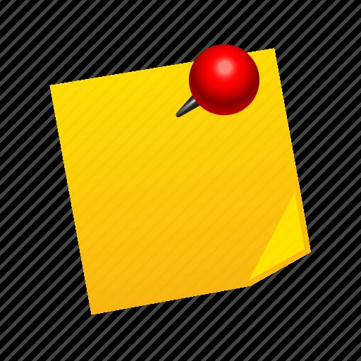 note, pin, reminder, stick, sticker icon