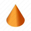 art, cone, drawing, geometry, shape icon