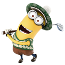 minion, golf, playing