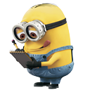 minion, reading icon