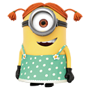 girl, minion icon