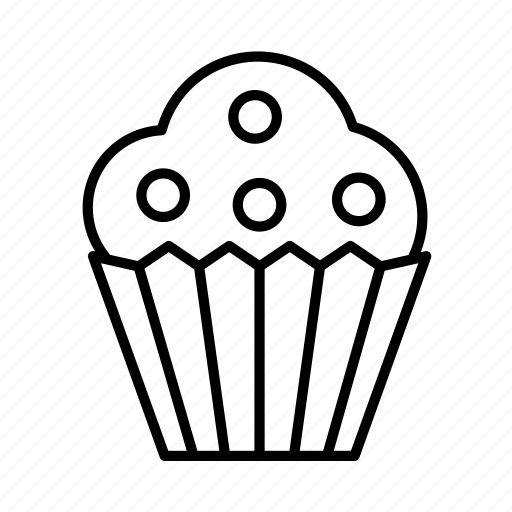 birthday, confectionery, dessert, food, muffin, sweets icon