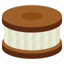 bakery, cookie, cream, dessert, food, sweet icon