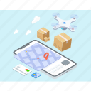 air freight, air logistics, drone delivery, drone logistics, drone technology icon