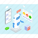 artificial conversational entity, bot, chat bot, chatbot, dialog system, im bot, talkbot icon