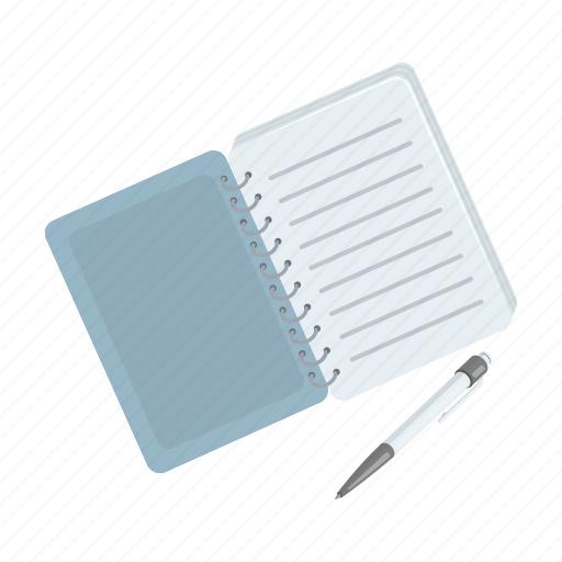 note, notebook, page, paper, pen, recording, write icon
