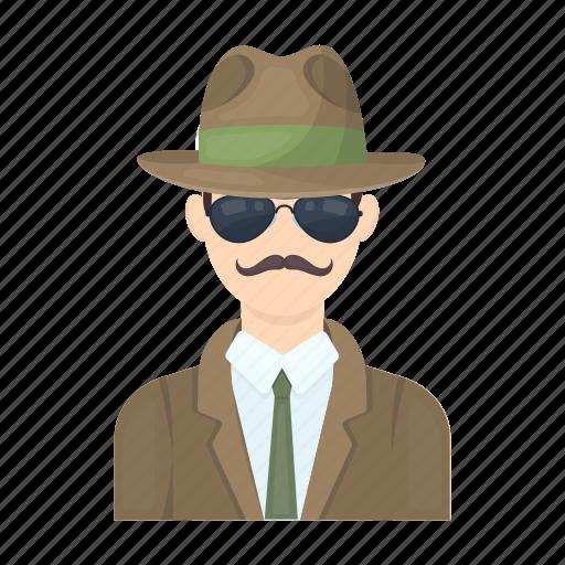 agent, appearance, clothes, detective, man, person, portrait icon