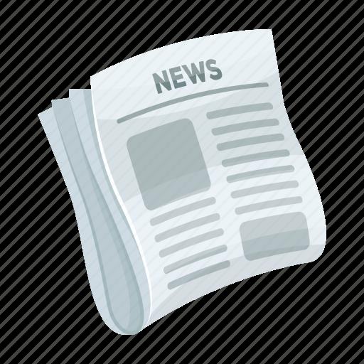 communication, media, news, newspaper, press, social icon