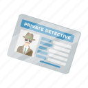 detective, document, extension, folder, identity, photo icon
