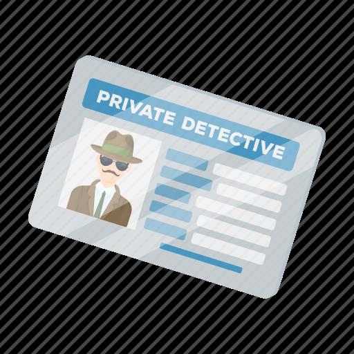 detective, document, extension, folder, identity, photo icon