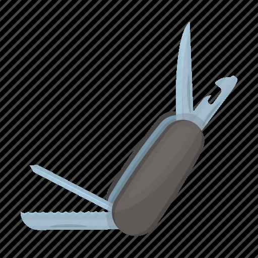 detective, equipment, folding, knife, tool icon