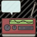 radio, speaker, retro, broadcasting, music