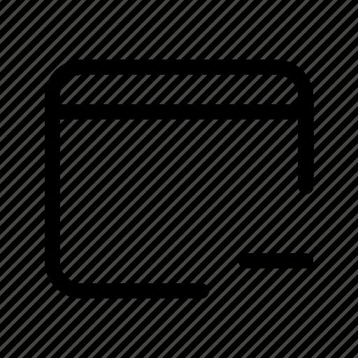 minus, window icon