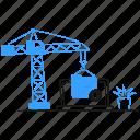 coding, a, website, web, development, software, crane, laptop, build, site, construction