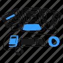 laptop, display, station, work, book, desk, headphones, software, developer