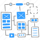 wireframe, development, ui, ux, scheme, diagram, outline, sketch, structure, layout
