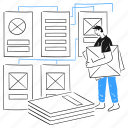 wireframe, development, developer, ui, ux, mockup, scheme, diagram, outline, structure, layout