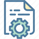 clear code, codding, development, gear, implement, integration, settings icon