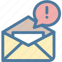 alert, communication, email, new, notification icon