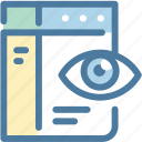 eye, seo monitoring, web view, website icon