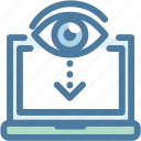 check, computer, eye, search, view, visible icon