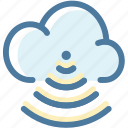 cloud, connection, network, share, sharing, storage, wifi icon