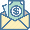 email, envelope, income, letter, mail, message, salary icon