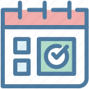 appointment, calendar, date, event, milestones, month, working schedule icon