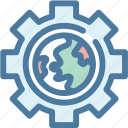 gear, global, network, option, settings, world, worldwide icon