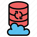 cloud, storage, database, server