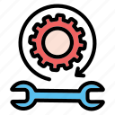 technical, support, gear, repair, service
