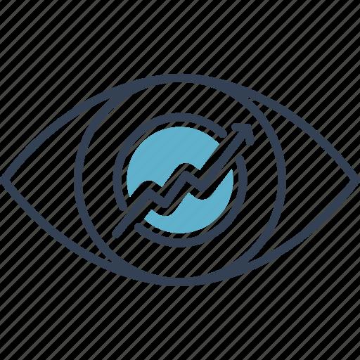 Development, eye, progress icon - Download on Iconfinder