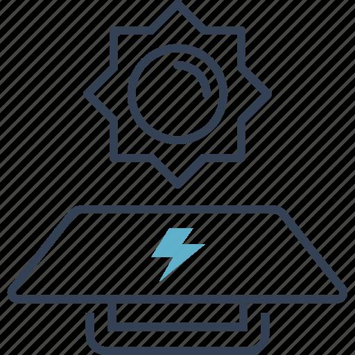 control, development, energy, sun icon