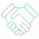 contract, deal, development and startup, handshack icon