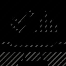 analytics, user, web icon