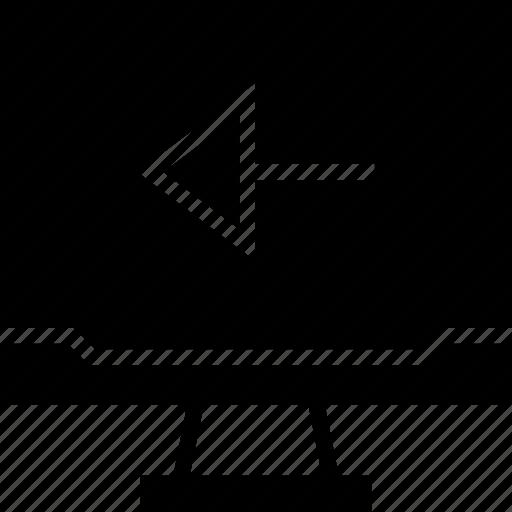arrow, back, pc icon