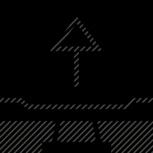 arrow, high, seo, up icon