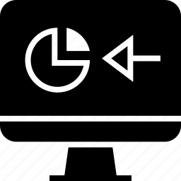 back, chart, computer icon