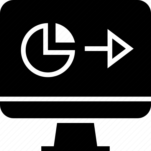 chart, computer, go, next icon
