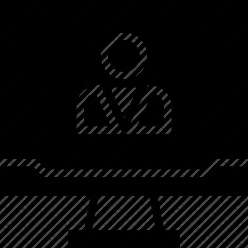 computer, person, user icon