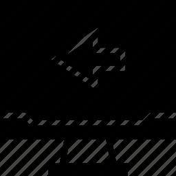 arrow, left, mac, pc icon