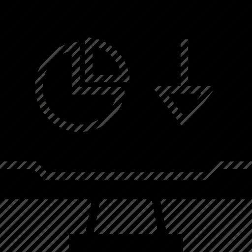 arrow, computer, point icon